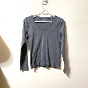 Gray Tommy Hillfiger Long Sleeve